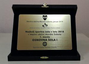 Slovesna podelitev priznanj na prireditvi Športni dosežki 2018
